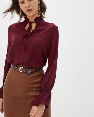 Блузка с длинным рукавом бордовый красная Miss Miss By Valentina