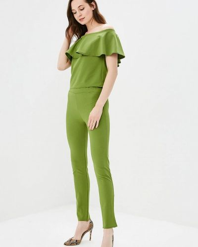 Брючный костюм зеленый Liana