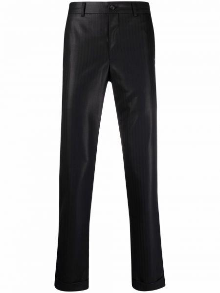 Czarne spodnie z paskiem wełniane Comme Des Garcons Homme Plus