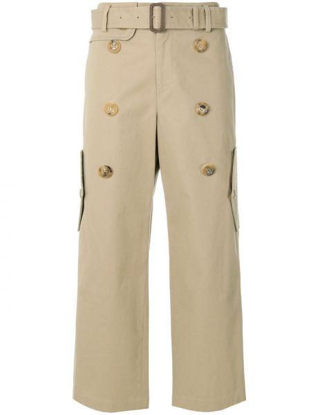 Прямые укороченные брюки винтажные с поясом на пуговицах Junya Watanabe Comme Des Garçons Pre-owned