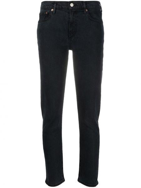 Bawełna bawełna czarny klasyczny jeansy z kieszeniami Agolde