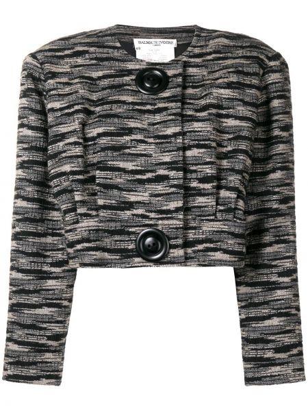 Черная нейлоновая куртка Balmain Pre-owned
