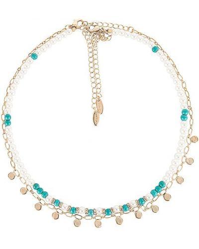 Ожерелье металлическое золотое Ettika