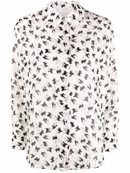 Белая рубашка на пуговицах с воротником Alexa Chung