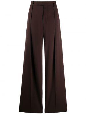 Свободные брюки с карманами с поясом Bottega Veneta