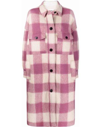 Розовое пальто длинное Isabel Marant étoile
