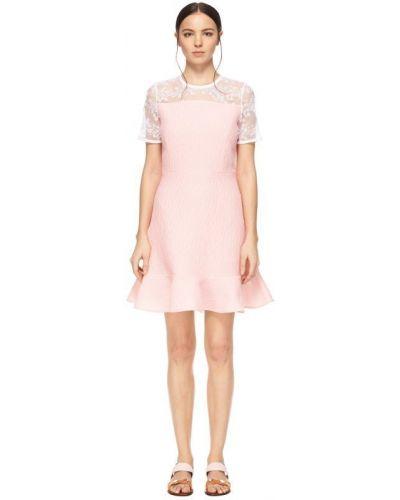 Розовое платье с вышивкой Carven