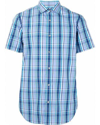 Классическая синяя классическая рубашка с воротником на пуговицах Kent & Curwen