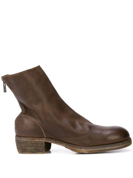 Buty skórzane brązowy Guidi