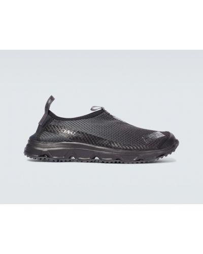 Текстильные черные кроссовки сетчатые Salomon