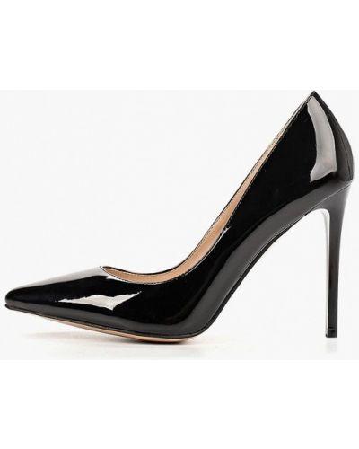 Туфли на каблуке черные кожаные Teetspace