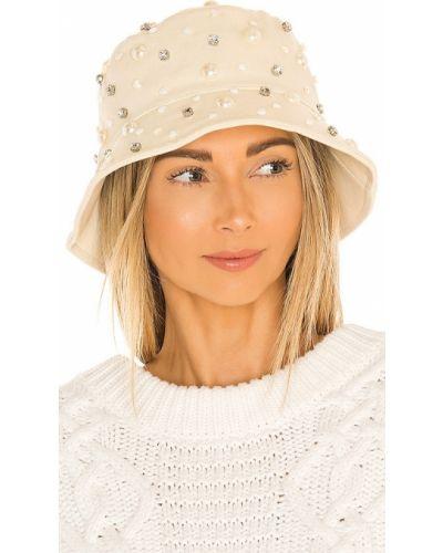 Niebieski kapelusz bawełniany perły Lele Sadoughi