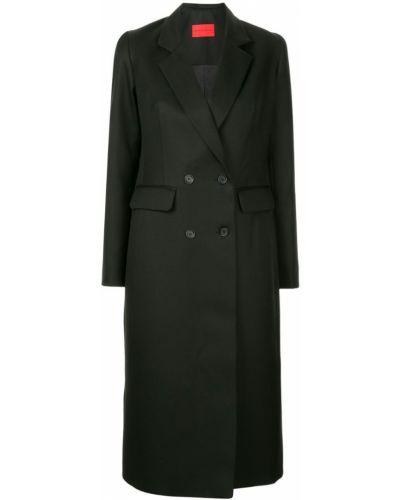 Черное пальто с капюшоном Strateas Carlucci