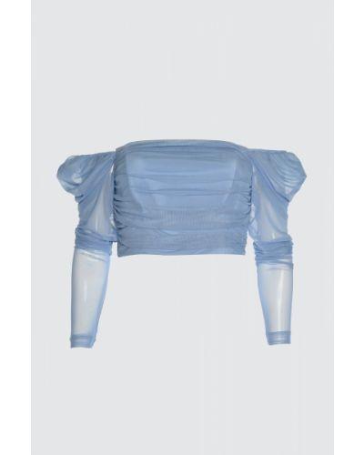 Bluzka tiulowa - niebieska Trendyol