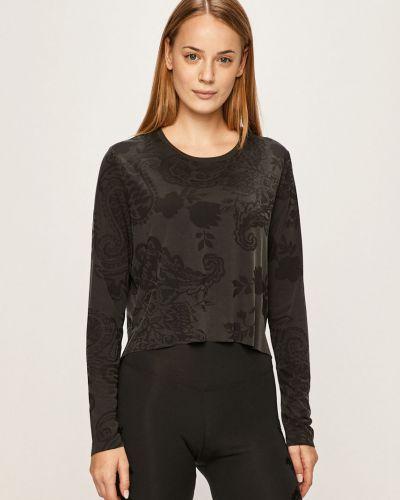 Черный спортивная футболка со стразами с декольте Desigual Sport