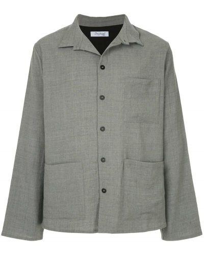 Рубашка с длинным рукавом с карманами серая Bergfabel