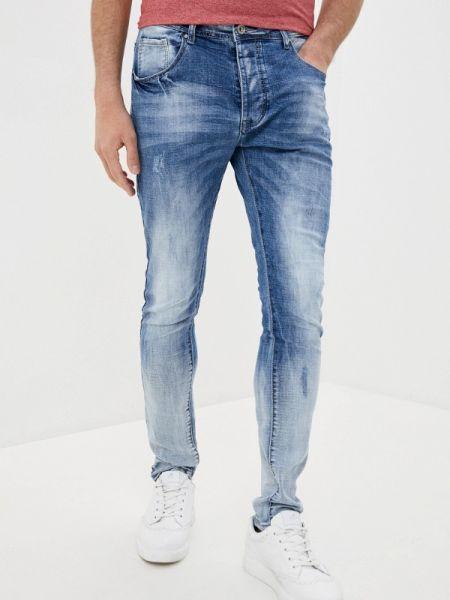 Синие зауженные джинсы-скинни из микрофибры Terance Kole
