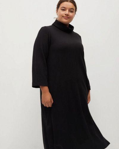 Черное платье-свитер Violeta By Mango
