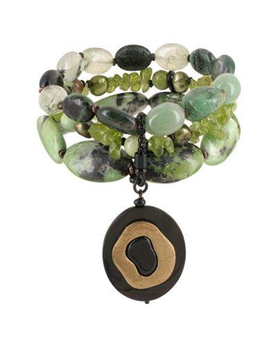 Браслет с камнями - черный Nature Bijoux