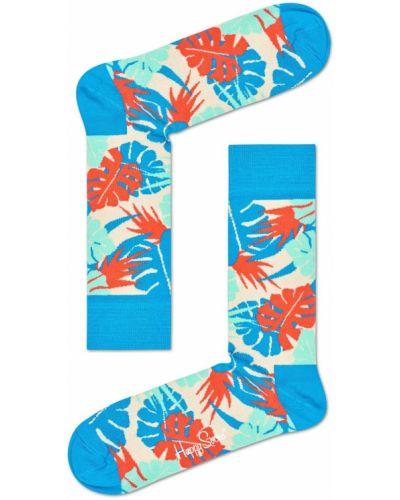 Синие носки с узором Happy Socks