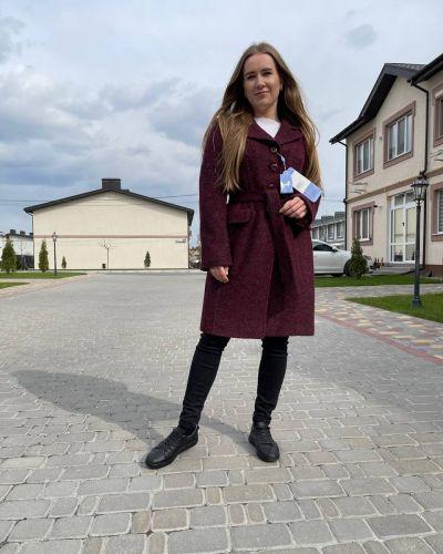 Пальто - бордовое Albanto