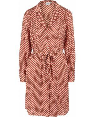 Платье миди с поясом платье-рубашка Ichi