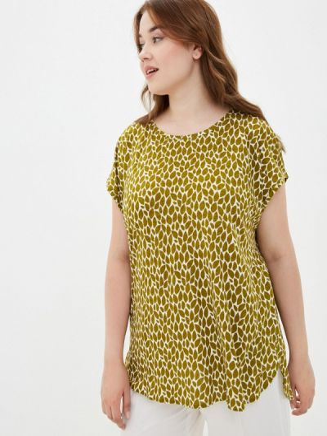 Зеленая футболка с короткими рукавами Samoon By Gerry Weber