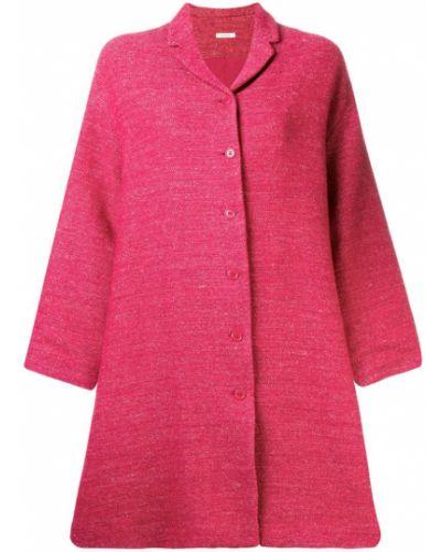 Розовое шерстяное пальто с капюшоном Apuntob