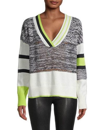 Prążkowany długi sweter bawełniany z długimi rękawami Central Park West