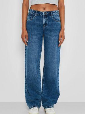 Широкие джинсы - синие Noisy May