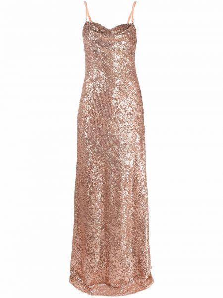 Платье с пайетками - розовое Elisabetta Franchi