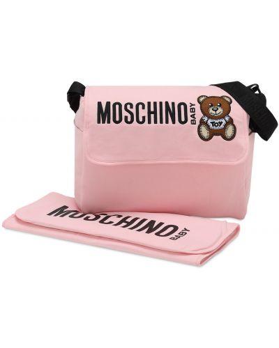 Nylon bawełna różowy torba z kieszeniami Moschino