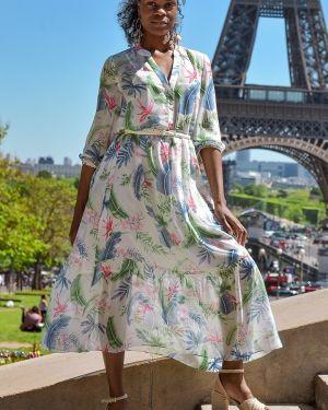 Летнее платье на пуговицах на бретелях Odetta