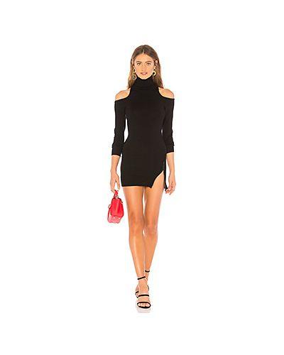 Вязаное платье с открытыми плечами платье-свитер Lovers + Friends