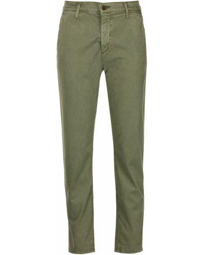 Зеленые джинсовые укороченные джинсы Ag Jeans