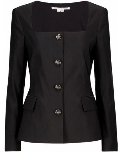 Льняная черная куртка стрейч Veronica Beard