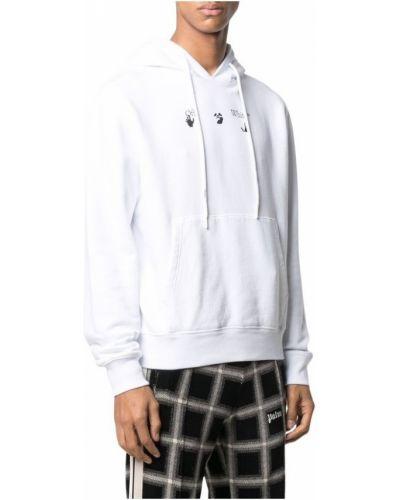 Zielona bluza z kapturem Off-white