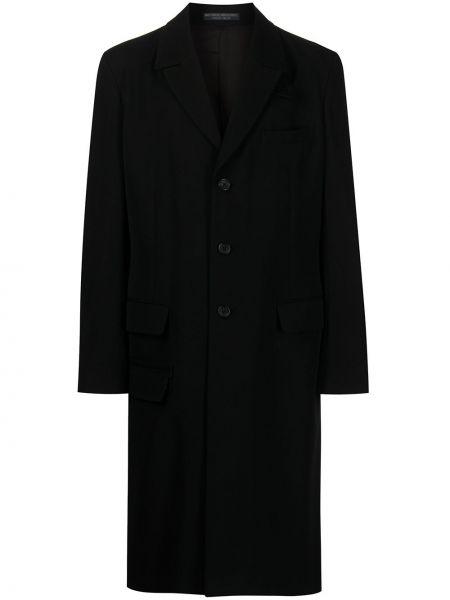 Czarny płaszcz wełniany Yohji Yamamoto