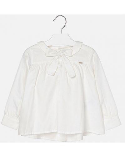 Блуза однотонная на пуговицах Mayoral