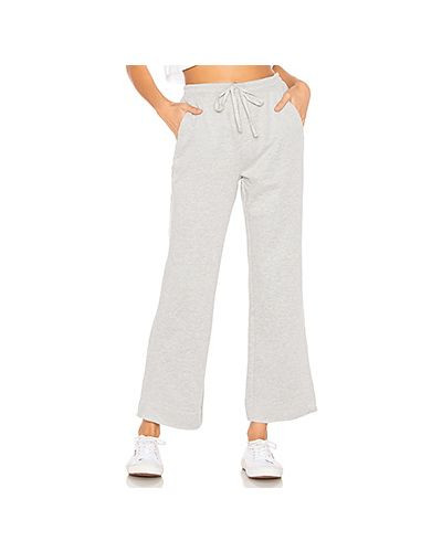 Спортивные брюки серые расклешенные Tularosa