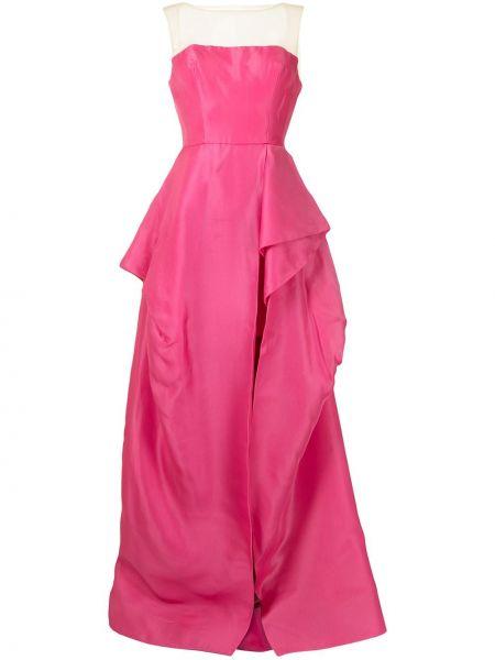 Шелковое вечернее платье - розовое Monique Lhuillier