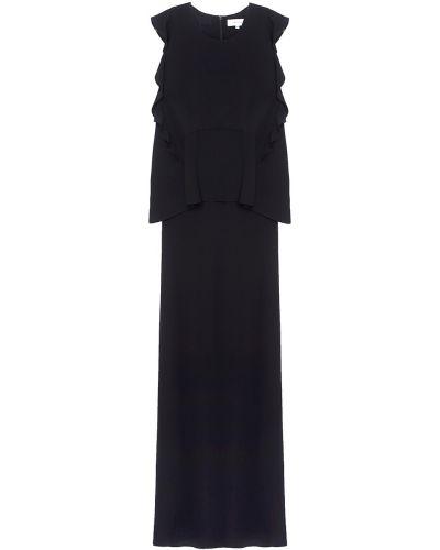 Вечернее платье макси с оборками Carven