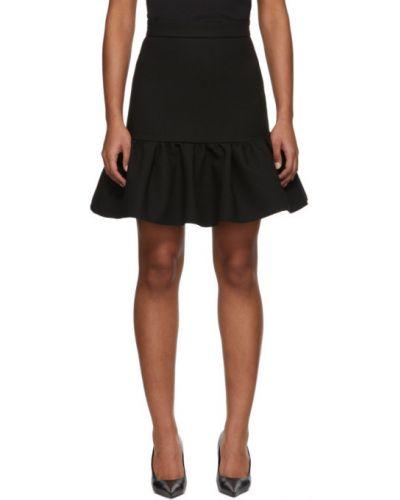 Czarny spódnica mini rozciągać z wiskozy Msgm
