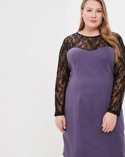 Вечернее платье осеннее фиолетовый Jp