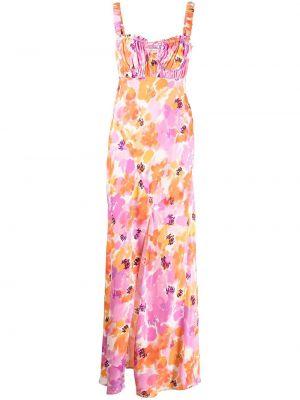 Платье макси в цветочный принт - розовое Nicholas