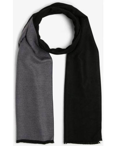 Czarny szalik z wiskozy Finshley & Harding