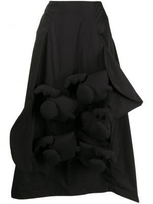 Spódnica z wysokim stanem - czarna Enfold