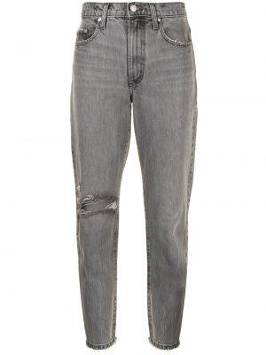 Хлопковые серые джинсы на молнии Nobody Denim