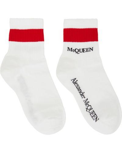 Белые носки короткие Alexander Mcqueen