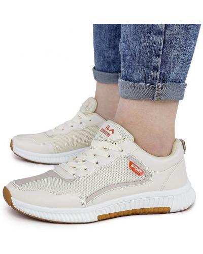 Текстильные кроссовки - бежевые Dual